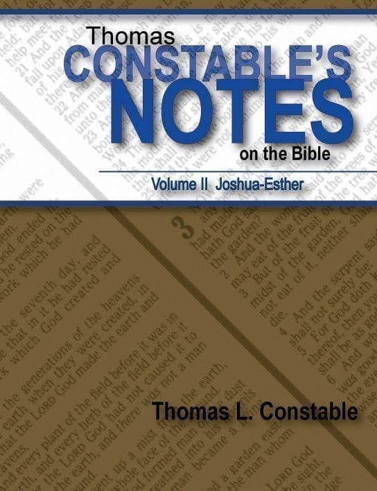 Thomas Constable's Notes on the Bible: Volume II Joshua-Esther