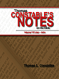 Constable's Notes on the Bible Vol. VII